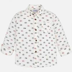 Mayoral white shirt with caravans
