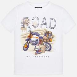 Mayoral/Nukutavake T-shirt with motorcycle