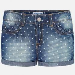 Mayoral blue denim shorts
