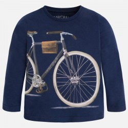 Mayoral  long sleeve shirt with bicycle