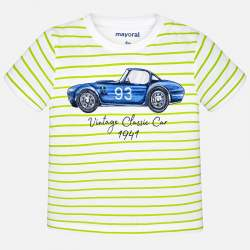 Mayoral striped T-shirt with car