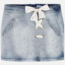 Mayoral denim skirt with rhinestones