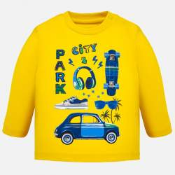 Mayoral long sleeve T-shirt with skateboard