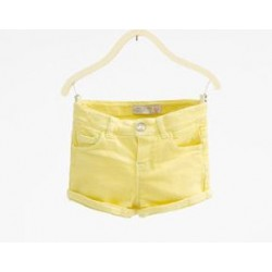 ZARA yellow jeans shorts