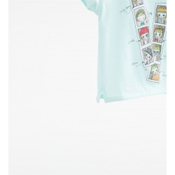 ZARA green T-shirt withglitter pictures