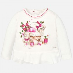 Mayoral  long sleeve shirt with rabbit