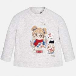 Mayoral  long sleeve shirt with girl