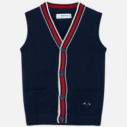 Mayoral blue knitted vest