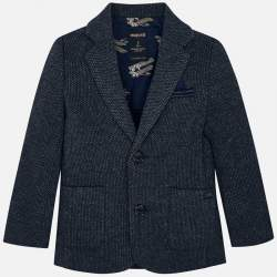 Mayoral knitted blue suit jacket