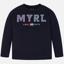 Mayoral blue long sleeve T-shirt