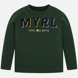 Mayoral green long sleeve T-shirt