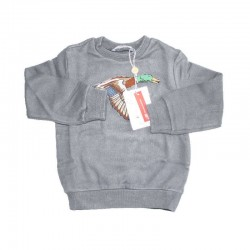 Original Marines Grey Sweater with Wil Duck