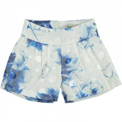To Be Too white - blue T-shirt + shorts