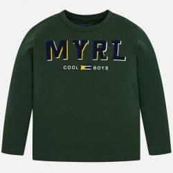 Mayoral green long sleeve T-shirt
