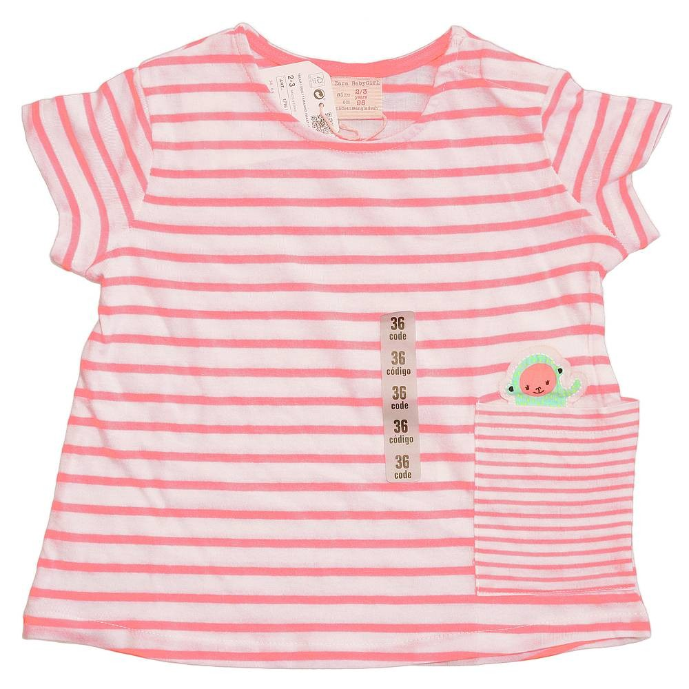 a2aa59bb ZARA striped T-shirt with monkey in the packet