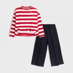 Mayoral pulóver + bőszárú nadrág