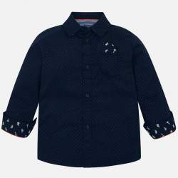 Mayoral blue shirt with polka dots