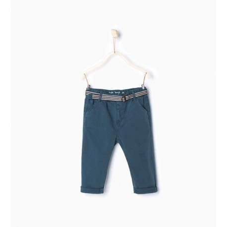 ZARA blue trousers with belt