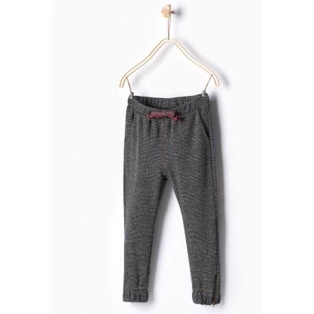 48f57f0a ZARA black-white sweatpants
