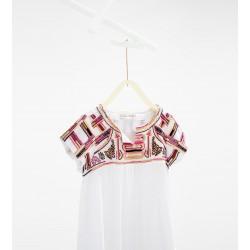 ZARA fehér ruha hímzéssel