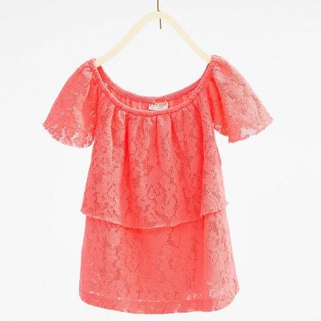 ZARA pink blouze with lace