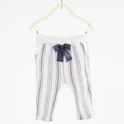 ZARA white striped trousers