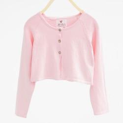 Zara pink knitted bolero-cardigan