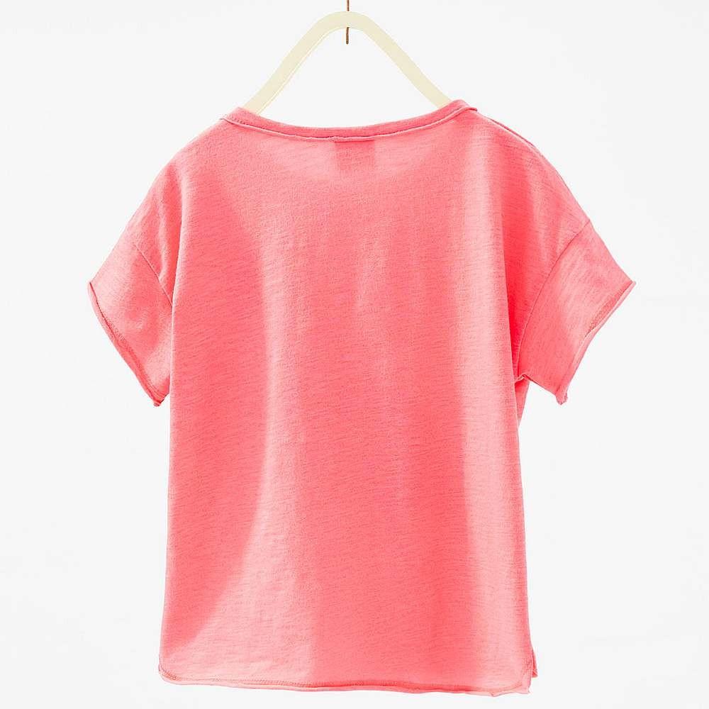 Zara Pink T Shirt With Flamingo