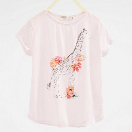 fae54316 ZARA pink T-shirt with flamingo