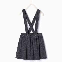 ZARA grey overall skirt