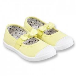 Obaibi sárga vászoncipő