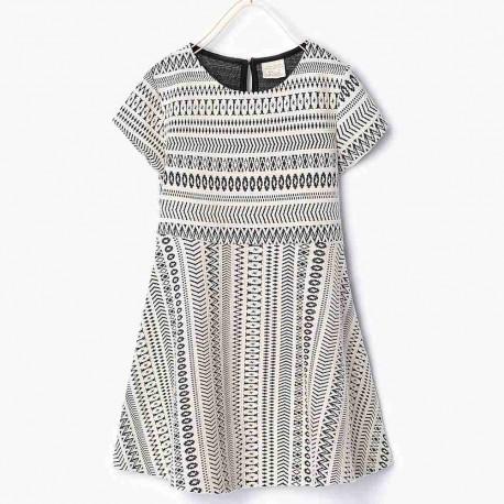 bb69a535d0 ZARA fekete fehér mintás ruha