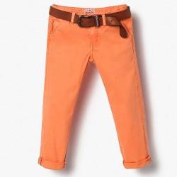 Massimo Dutti orange trousers