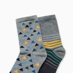 ZARA szürke csíkos zokni  - 2 pár