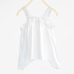 ZARA csipkés fehér trikó