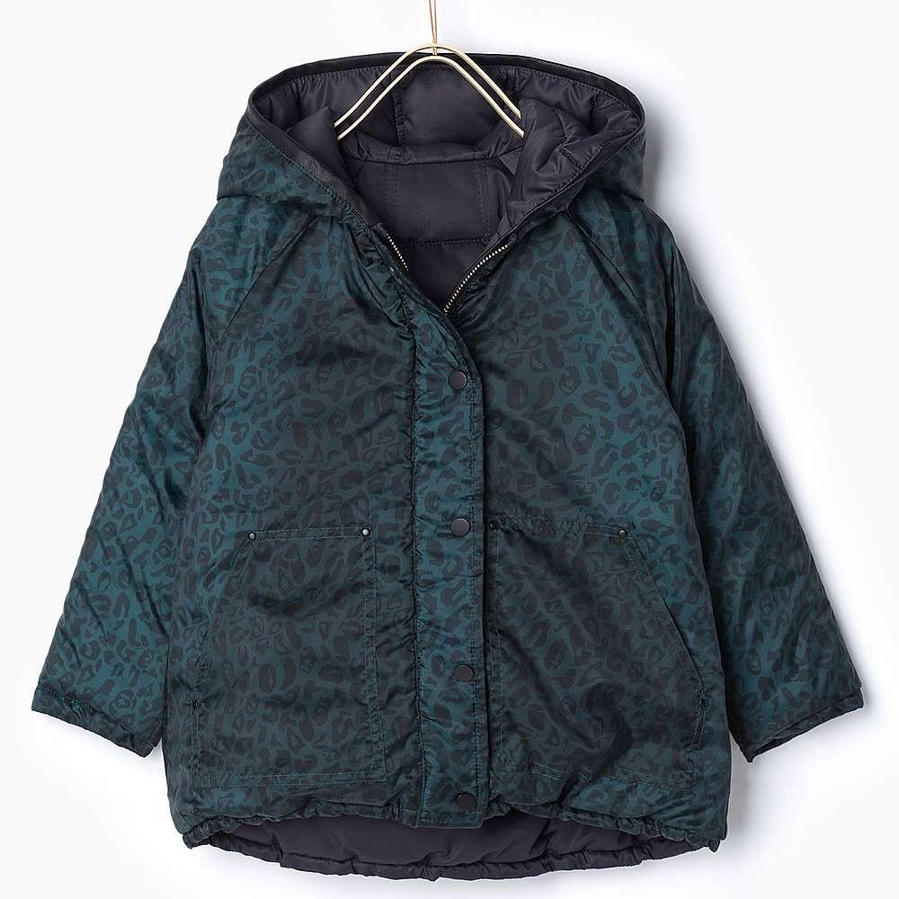 Zara Darkblue Reversible Wintercoat