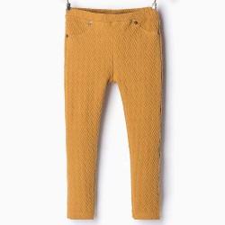 ZARA nyomott mintás világosbarna leggings