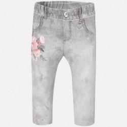MAYORAL grey flowers leggings
