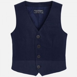 Mayoral blue suit jacket and vest