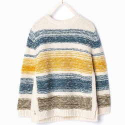 ZARA striped knitted pullover