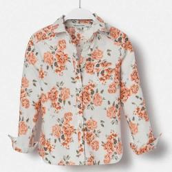 Massimo Dutti rózsás mintás fehér ing