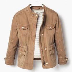 Massimo Dutti Brown Thin Coat