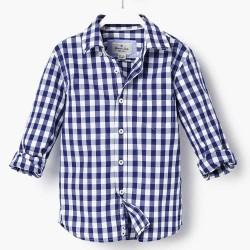 Massimo Dutti kék fehér kockás ing