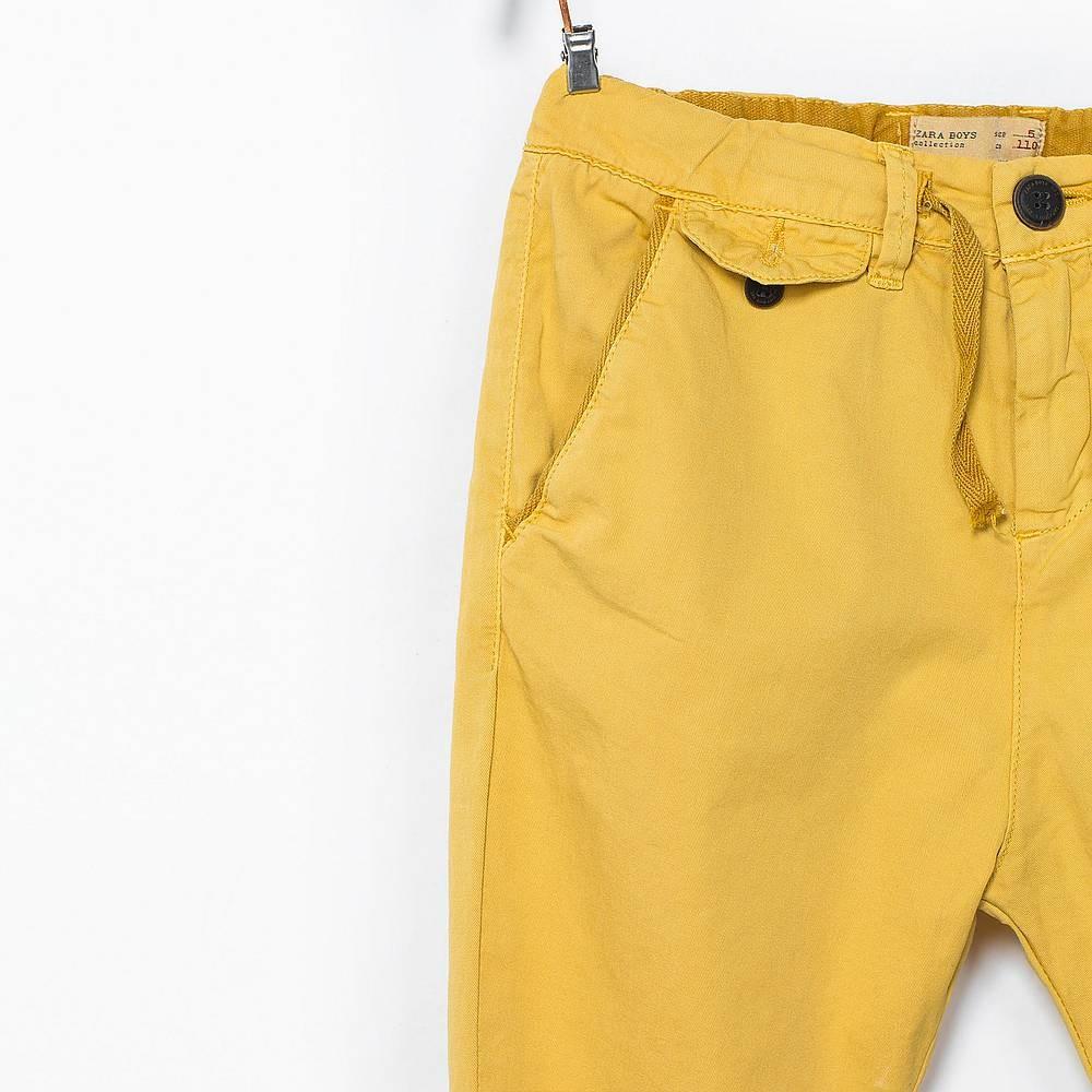 8f55edb51e ... ZARA sárga vászonnadrág ...