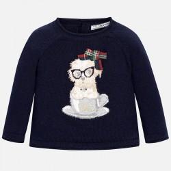 Mayoral kék kutyusos pulóver