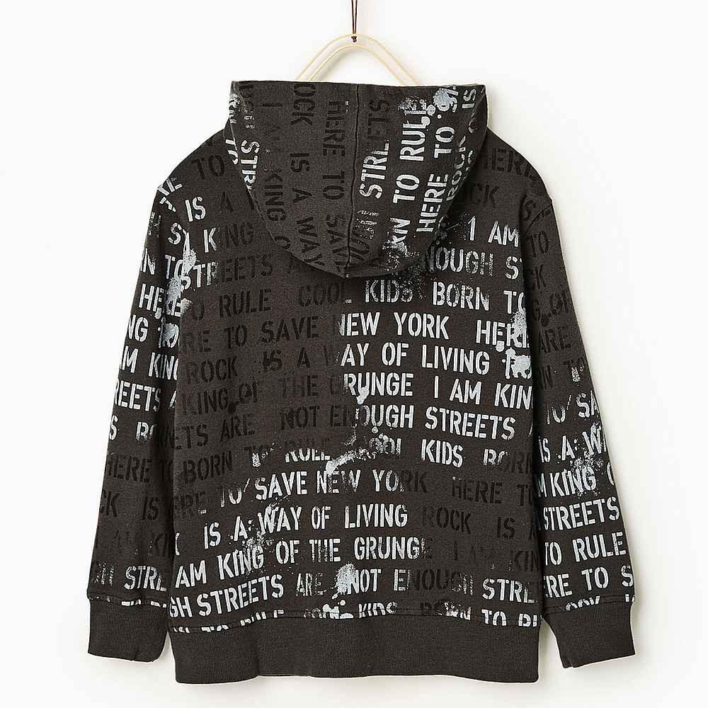 a1a59bfeaa ZARA szürke kapucnis pulóver