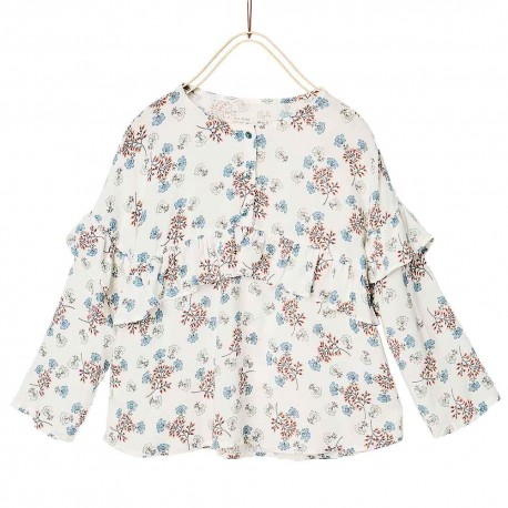 ZARA blouse with flowers