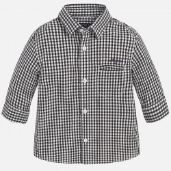 Mayoral black - white checkered shirt